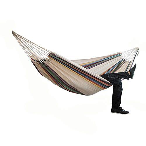 DGJEL Two-person Hammock Camping Thicken Swinging Chair Outdoor Hanging Bed Canvas Rocking Chair Not with Hammock Stand 200 * 150cm,A