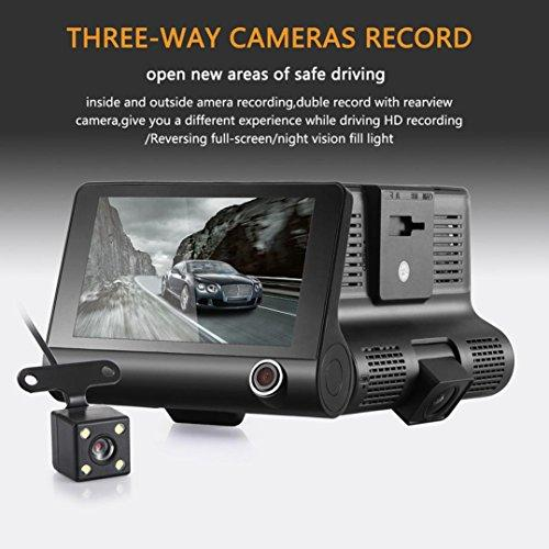 Diadia Car DVR 1080P inch Dual Lens HD Car DVR Rearview Video Dash Cam Recorder Camera G-sensor,loop recording,Motion detection,HDR–High Dynamic Range image processing