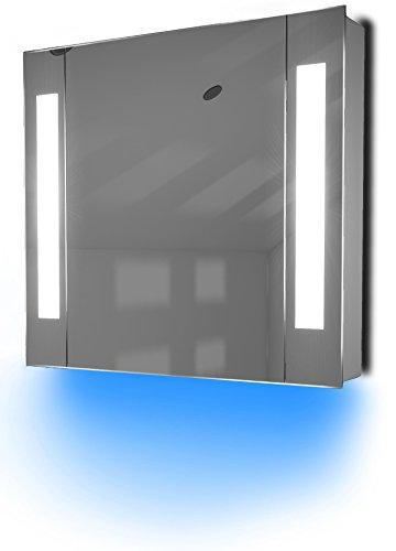 Diamond X Collection Ambient Bathroom Mirror Cabinet With Sensor & Internal Shaver Socket K17B