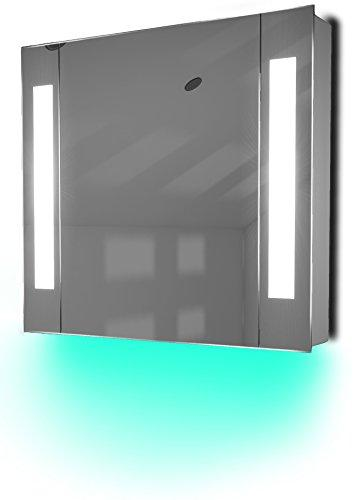 Diamond X Collection Ambient Bathroom Mirror Cabinet With Sensor & Internal Shaver Socket K17T
