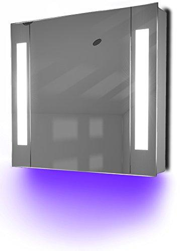 Diamond X Collection Ambient Bathroom Mirror Cabinet With Sensor & Internal Shaver Socket K17U