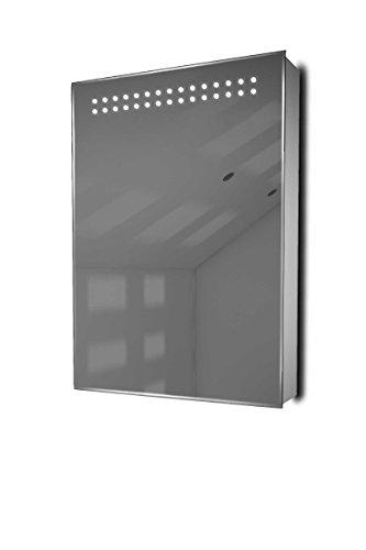 Diamond X Collection Jinsha Demister LED Bathroom Cabinet With Demister Pad, Sensor & Shaver k420