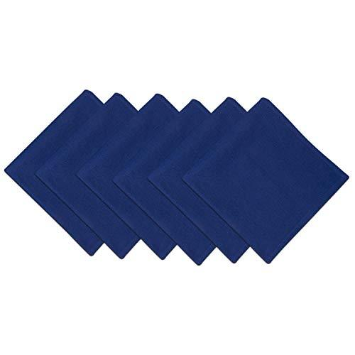 DII 100% Cotton Cloth Napkins, Oversized 20x20 Dinner Napkins, For Basic Everyday Use, Banquets, Weddings, Events, or Family Gatherings - Set of 6, Anchor Blue