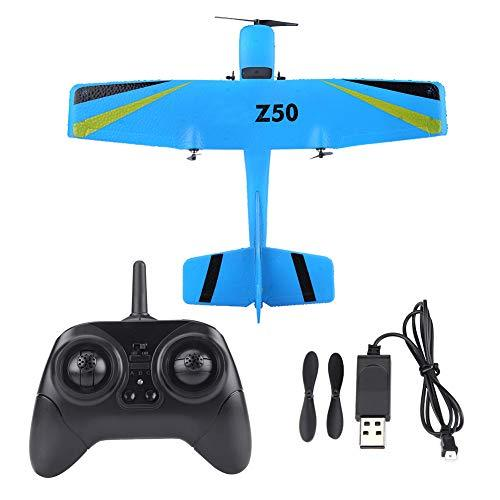 Dilwe RC Airplane Toy, 2.4G ZC-Z50 Remote Control Plane Glider EPP Fixed Wing Remote Control Aircraft Model Toy(Blue)