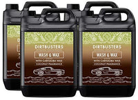 Dirtbusters Ph Neutral Coconut Wash and wax professional car cleaner with premium grade carnauba wax for streak free professional valeting grade cleaning. shampoo 1 x 5 litres. Makes 1000 litres of cleaning solution (4)