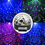 Disco DJ Stage Lighting LED RGB Crystal Magic Ball DMX light KTV Christmas Party With MP3 Bluetooth Loudspeaker Memory Card Wireless Presenter Function