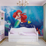Disney Princess Little Mermaid Photo Wallpaper Wall Mural (533FW), Fleece (Easyinstall), XXXL - 416cm x 254cm