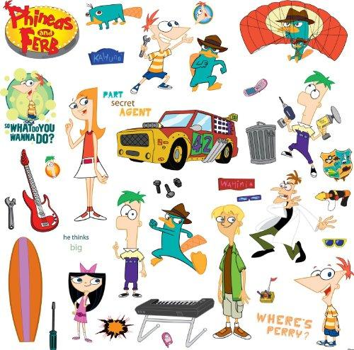 Disney RoomMates Children's Repositonable Wall Stickers, Phineas and Ferb