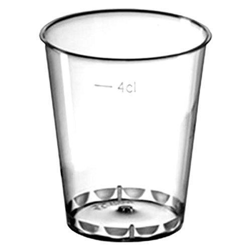 Disposable Shot Glasses 1.8oz / 50ml - Case of 1000 - Crystal Polystyrene Plastic Shots Glasses