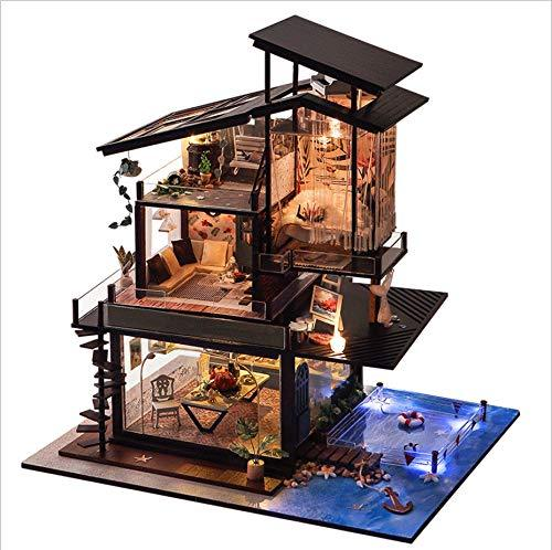 Diy Dolls House Miniature 7D Greenhouse Craft Kits, Handmade Model Educational Toys Birthday