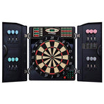DMI Sports Bullshooter by Arachnid E-Bristle 1000 LED Electronic Dartboard Cabinet Set