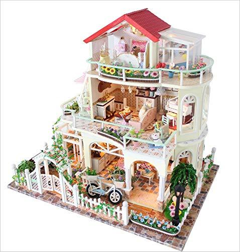 Dolls Houses Mini Greenhouse Crafts, Sweet Talk Diy Doll House Puzzle Assembled Model Handmade Doll House