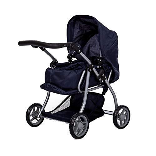 Dolls Stroller - 3 in 1 Convertible into seats - Removable carrycot - Height adjustable handlebars: 30 - 62 cm - Folding - Valid for dolls up to: 40 cm