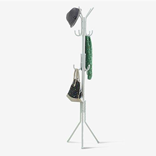 DONG Coat Rack Metal Floor-standing Detachable Bedroom Practical Multi-function 11 Hook Coat Robe Hook (172*46*46cm) White