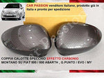 Door Wing Mirror Cover Carbon fiber Effect Finish Pair Left & Right