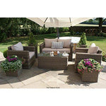 Dorset Rattan Garden Furniture 2 Seater Square Sofa Set