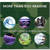 D@Qyn For Pond Aquarium, Fish Tank, Pond, Statuary, Hydroponics Submersible Water Pump(1.45Mpower Cord),15W