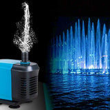 D@Qyn Submersible (1500L/H) Water Pump, Fish Tank Pump With (1.6M) Power Cord For Ponds, Aquarium, Statuary, Fountain, Hydroponics,1500L/H,20W