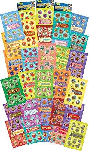 Dr. Stinky's Scratch N Sniff Stickers 30-Pack- Strawberry, Apple, Banana, Pizza, Garbage, Cherry, Birthday Cake, Chocolate, Cotton Candy, Campfire, Gummi Bear, Pineapple, Orange, Brownie, Watermelon, Toothpaste, Lemonade, Grape, Flower Power, Ketchup, Cin
