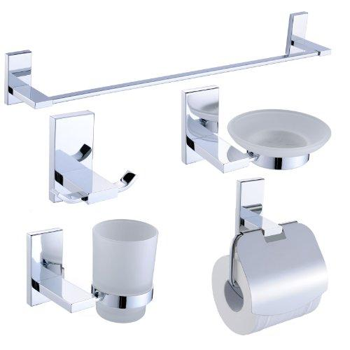 DripDropDry Classic Bathroom Accessory Range (5 Piece Set)