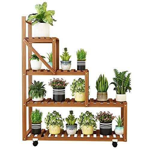 Duan hai rong DHR Flower Shelf Multi-layer Indoor Solid Wood Floor-standing Windowsill Flower Pot Shelf Living Room Creative Balcony Frame Plant storage rack