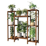 Duan hai rong DHR Flower stand Anticorrosive wood Flower Green plant Multi-layer Storage rack living room balcony indoor flower pot Shelf Bonsai Plant storage rack