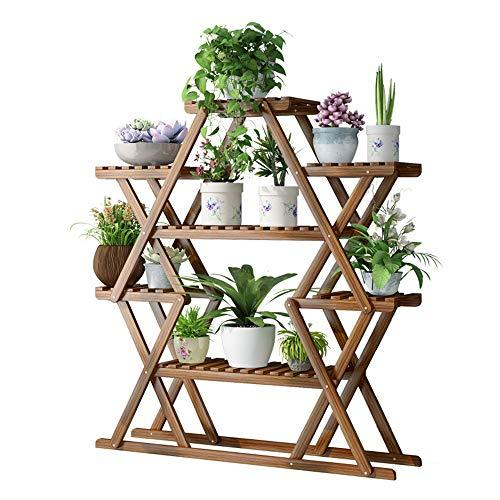Duan hai rong DHR Flower stand triangle Green plant Shelf Multi-layer indoor outdoor Solid wood living room balcony Storage rack Bracket Plant storage rack