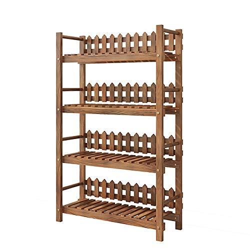 Duan hai rong DHR Household Flower stand bookshelf indoor flower pot Storage rack Shoebox balcony living room Multi-layer Shelf Solid wood cabinet Plant storage rack (Size : 50x28x118cm)