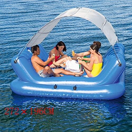 DUBAOBAO Water Awning Music Lounge, 272x196cm+ bear weight 360KG, multi-person inflatable sofa Floating Chair sofa, inflatable swimming Pool Lounge chair