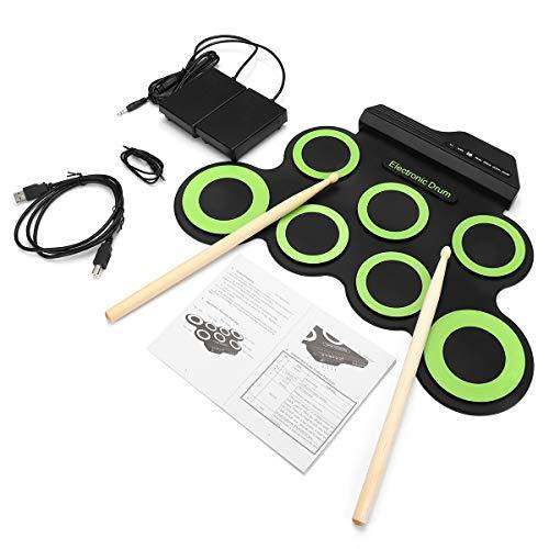 DUCKTOYS Portable Hand Roll Electronic Drum Kit With 2 Drum Sticks