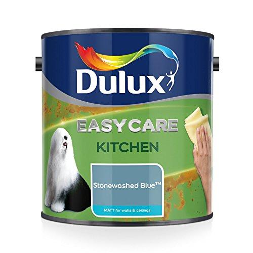 Dulux Easycare Kitchen Matt Emulsion Paint For Walls And Ceilings - Stonewashed Blue 2.5L