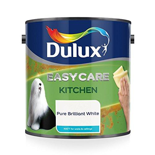 Dulux Easycare Kitchen Matt Paint - Pure Brilliant White 2.5L