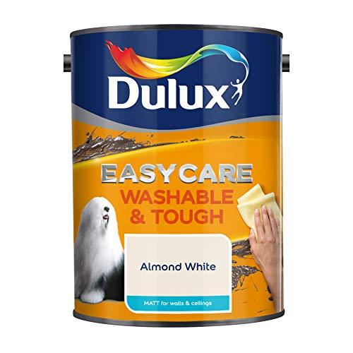 Dulux Easycare Washable & Tough Matt Emulsion Paint For Walls And Ceilings - Almond White 5L