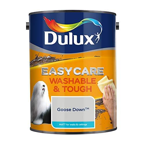 Dulux Easycare Washable & Tough Matt Emulsion Paint For Walls And Ceilings - Goose Down 5L
