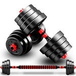 Dumbbell Barbell Adjustable All-Purpose Gym And Home Workouts Lose Weight Body Sculpting Men and women 2×10Kg/15Kg (Set Of 2),2X15KG