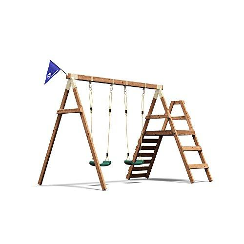 Dunster House Wooden Swing Set Kids Outdoor Garden Climbing Frame ...
