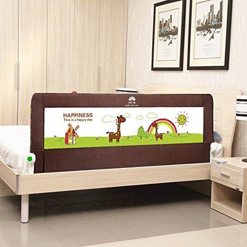 DW BI Portable foldable Bed rail Bed Guard Protection Safety Infant Child Brown