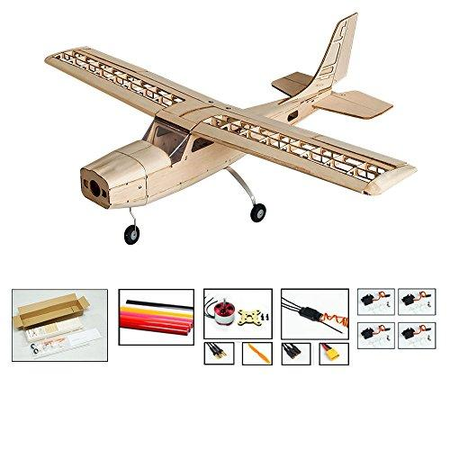 DW Hobby S16 Balsa wood Electric Training Airplane CESSNA 150 Kit 1000mm Wingspan need to built Airplane Basswood 4CH Radio Controlled Laser-cutting Aeroplane Un-assembled