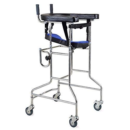 Dwhui Elderly Walker Adjustable Walking Assist Equipped Wheels Equipped With Arm Rest Pad For Limited Mobility With Disabled