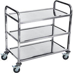 DXP Stainless Steel Catering Serving Storage Trolley 3 Tier With Wheels YKF-L3