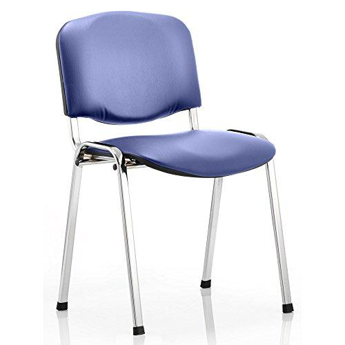 Dynamic ISO Stacking Vinyl Chair without Arms - Black