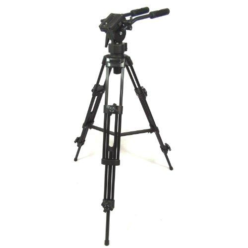 DynaSun EL9901 Professional Heavy Duty Camera Video Tripod Set Kit with Fluid Pro Video Head and Carry Case