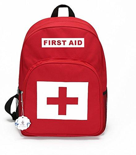 E-FAK Red Backpack for First Aid Kits Pack Emergency Treatment or Hiking, Backpacking, Camping, Travel, Car & Cycling Outdoor Adventures or be Prepared at Home & Work (RED #1, M)