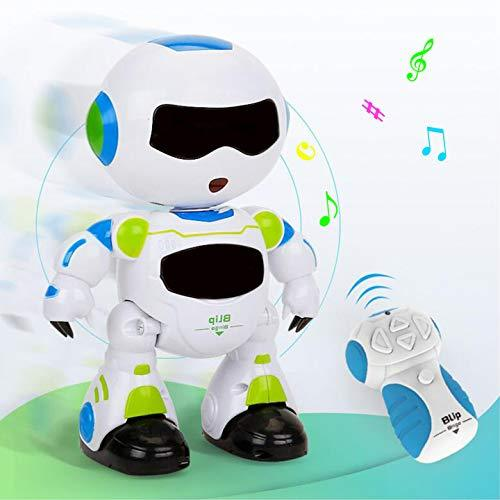 EARSOON Remote Control Robot Christmas Electronic RC Learning Toddler Intelligent Action Dancing Toys Music Lights Kids Boys Girls