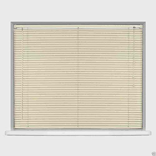 Easy-Fit PVC Venetian Window Blinds Trimmable Home Office Blind New (Ivory/Cream, 180cm x 210cm)