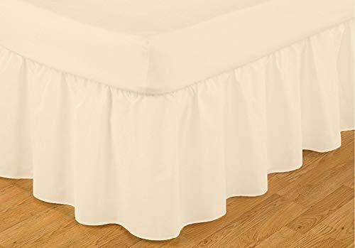 Easy Fit Valance Frill Double Bed Size RRP £46 in Ivory
