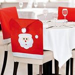 eBuyGB Pack of 20 Santa Face Hat Chair Back Covers, Felt, Red