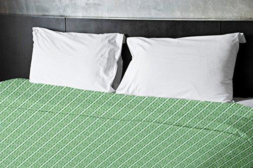 Ebydesign Geometric Duvet Cover, King, Green