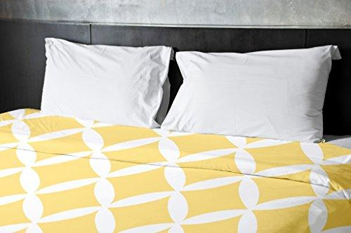Ebydesign Geometric Duvet Cover, Queen, Lemon