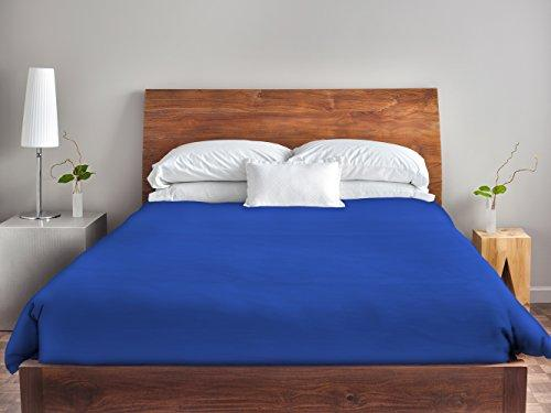Ebydesign Solid Duvet Cover, King, Dazzling Blue